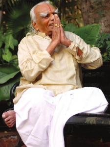 Iyengar seated namaste