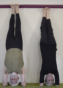 Mark and Sally headstand