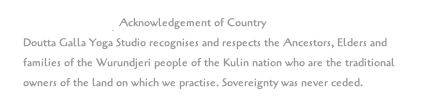 DGYS Acknowledgement of Country